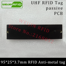 UHF RFID anti-metal tag 915mhz 868mhz Alien Higgs3 EPCC1G2 6C 95*25*3.7mm long reading distance PCB smart card passive RFID tags