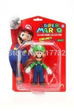 TraVelMall PVC Super Mario Figurines mini action figure collection toys, 4 inch (10cm) Luigi(China)