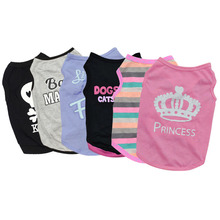 Pet Puppy Summer Vest Small Dog Cat Dogs Clothing Cotton T Shirt Apparel Clothes Dog Shirt H1(China)