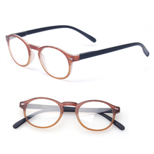 Reading Glasses Classic Retro Vintage Style Oval Eyewears Men and Women Spring Hinge Plastic Clear Eyeglasses Diopter Glasses