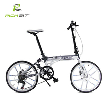 RichBit New 20 Inch Folding Bicycle 7 Speeds Heterotype Tube Frame Double Disc Brake City Folding Bike 10 Spokes Folding Bike(China)