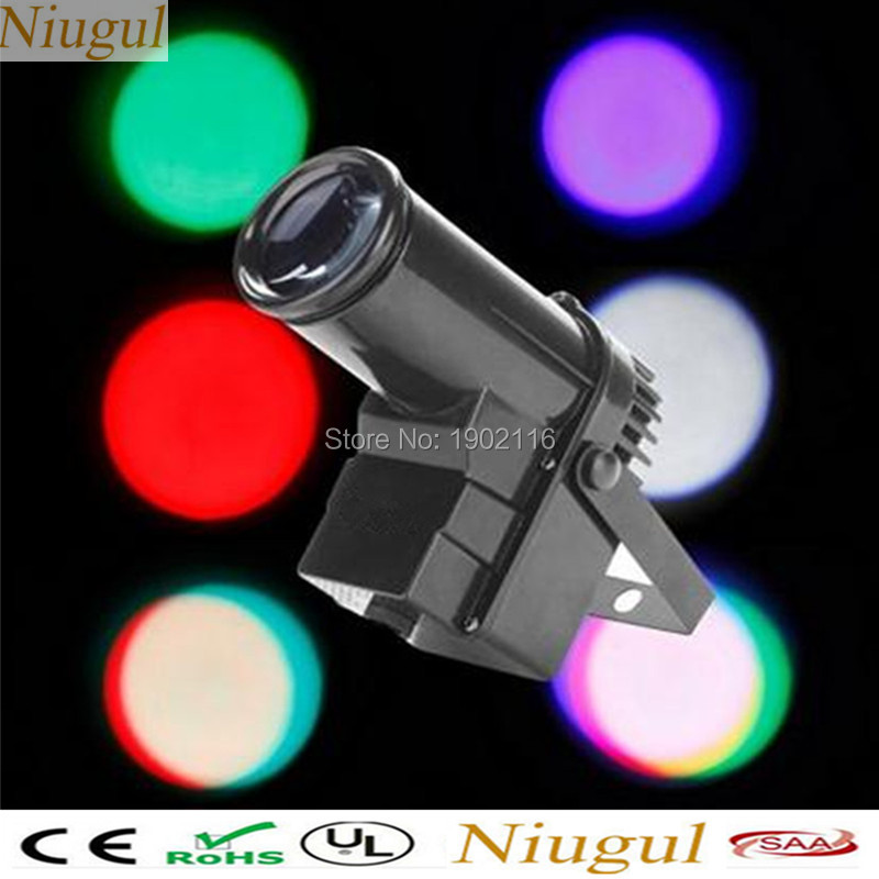 Niugul Disco dj lighting LED mini 10W LED pinspot light RGBW LED DMX512 stage beam light nightclub KTV bar party holiday lights<br>