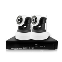 2CH 960P 1.3MP IP Camera PTZ System Pan Rotate CCTV Outdoor Security HD Video Network P2P Surveillance Audio 8CH NVR Camera kit