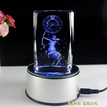 Free Shipping, Crystal laser 3d in 5*5*8cm Clear cube Paperweight with Led light base For Kids Birthday Gifts, Wedding Gifts