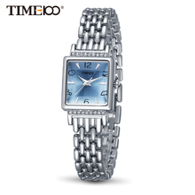 Time100 Fashion Women Watches simple Quartz Watches alloy Strap blue Analog dial Ladies Casual Wrist Watch(China)