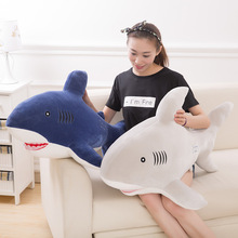 Big Shark Shape Decorative Cushion Throw Pillow with Inner Home Decor Cartoon Bedding Sofa Toys Sleeping Pillow