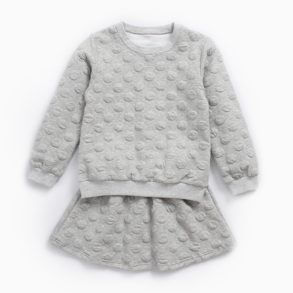 2018 New Spring Autumn Baby Girls Childrens Clothing Sets Pullover Top+Skirts 2 Piece Sets Fashion Kids Outfits Clothing Sets<br>