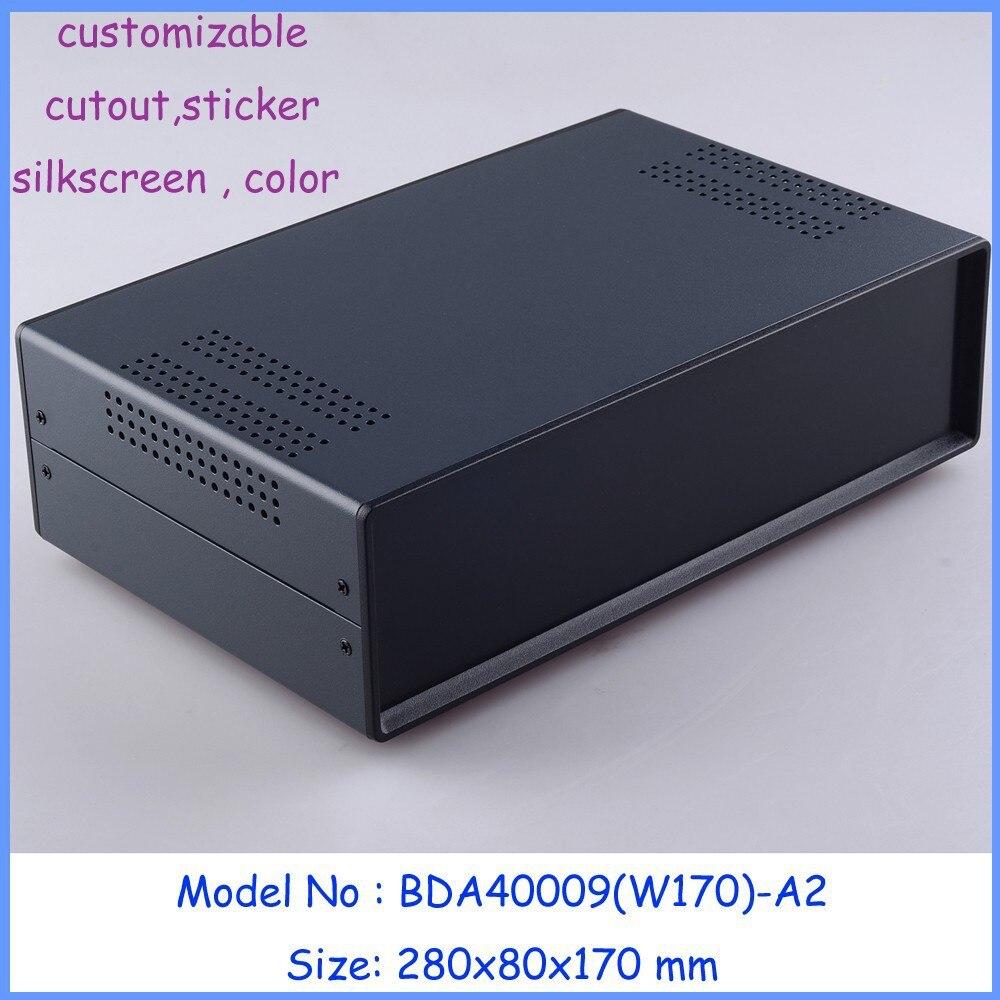 szomk new standard iron box electronics case (1pcs ) 280x80x170mm Iron box for pcb board, electronics steel enclosure<br>