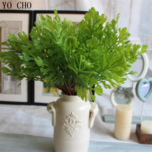 Hot Selling Watermelon leaf Grass Artificial Plants Artificial Flowers artificial succulents Household Decoration silk flower(China)