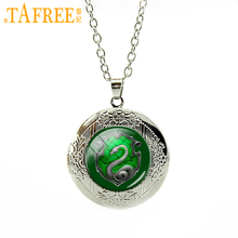 TAFREE 2017 New Fashion Hogwarts Slytherin Crest Locket Pendant Necklace Luna Love good Quality for men women gifts N388(China)
