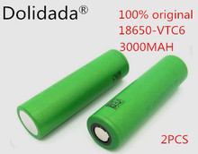2pcs 100% original 3.7 V 3000 MAH Li ion rechargeable 18650 battery akku to us18650vtc6 vtc6 30A toys tools flashlight