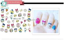 Rocooart DLS383-391 Water Foils Nail Art Sticker Fashion Nails Harajuku Duck Despicable Me Decals Minx Nail Decorations(China)