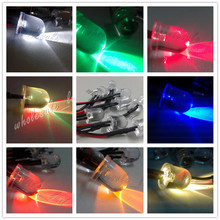 20pcs Pre wired 10mm LED Light Lamp Bulb 18cm Prewired DC 12V White Warm White Orange Red Blue Green Yellow RGB Flash