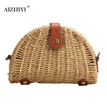 Buy Women Shell Rattan Straw Shoulder Bag Vintage Handbags Travel Beach Messenger Crossbody Bag Fashion Handbag 20 X 13 X 5cm for $10.43 in AliExpress store