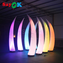 free shipping led inflatable cone/inflatable pillar/inflatable tusk decoration for wedding supplies in china(China)