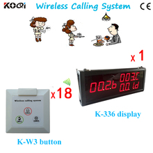 Wireless Call Calling Waiter Server Paging Service System w LED Display Receiver+Wall calling bell