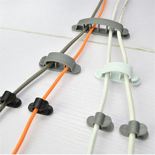 10Pcs/set Cable Cord Wire Line Organizer Plastic Clips Ties Fixer Fastener Holder USB Power Cord Cable Holder