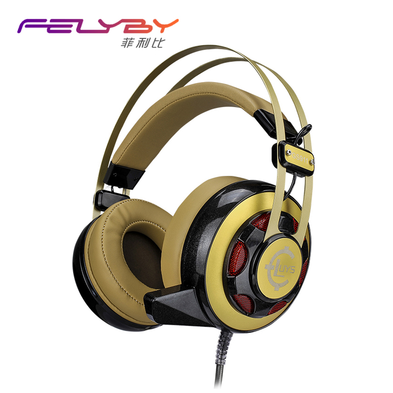 Professional computer game brand headphone Glowing headphones Vibration Effects High quality HIFI headset With a microphone<br>