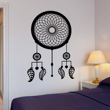 Removable Vinyl Dreamcatcher Wall Decals Native American Special Ornament For Home Bedroom Art Decoration Art Wallpaper Y-801