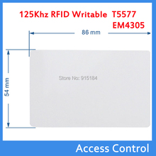10 pcs 125Khz RFID Writable Tags T5577/EM4305 Cards Proximity ID Rewritable ABS Tag for Access card copy em4100 em4102 keyfobs(China)