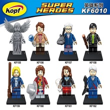 Super Heroes Dr.Who figures Weeping Angel Matt Smith Clara Oswald Christopher Eccleston Tom Baker Building Blocks Toy KF6010(China)