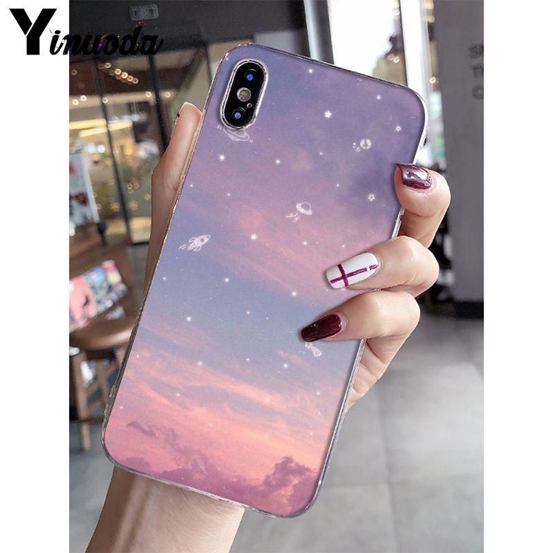 Pink cute kawaii sky space Sunset Cloud Art