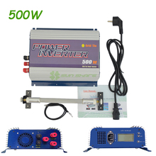 Free shipping! AC to AC 3 Phase Wind Grid Tie Inverter 500W With Dump Load and LCD display 12V/24V to 110V/120V/220V/230V/240V