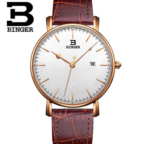 2017 New Brand Men Fashion Binger Wristwatches Man Luxury Mens Quartz Watch Sports Watches Switzerland Army Watches<br>