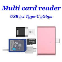 USB 3.0 3.1 Type C card reader High Quality mini USB C card Adapter for Type-C Android Phones TF memory card 4 Color