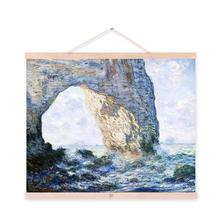Claude Monet Modern Impressionist Blue Sea Poster Prints Rock Ocean Wave Canvas Oil Paintings Home Living Room Wall Decor Gifts