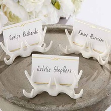 (DHL,UPS,Fedex)FREE SHIPPING+50pcs/Lot+Resin Antler Place Card Holder Wedding Party Table Decoration Favors