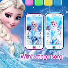 1 PCS Multifunctional Toy Phone Elsa Projection Musical with Song Let It Go Electronic Toys for Baby Christmas Gift