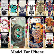 Plastic Phone Cover Case For Apple iPhone 5 7 5C 5S 5G 55S 4 4G 4S 44S SE 6C 6G 6 6S Plus iPhone5s Iphone5 Shell Case Cover Bag