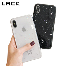 LACK Bling Glitter Soft Phone Case For iphone X Case Fashion Cute Star Back Cover Love Heart Shining Powder Cases For iphoneX
