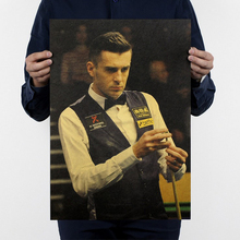 Buy Free shipping,Selby C style/cue sport/Snooker/sport poster/kraft paper/bar poster/Retro Poster/decorative painting 51x35.5cm for $1.39 in AliExpress store