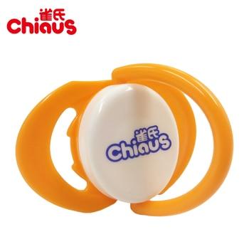 Livraison Gratuite 1 pcs Chiaus Bébé Sucettes Sucette Mamelon En Forme de Silicone + PP> 6 mois SANS BPA Tétines mamelons Bébé D'alimentation