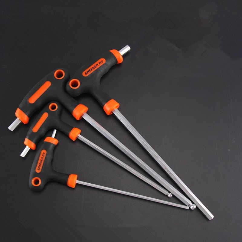Steel Hex Key Set Wrench T-type Allen Repair Furniture Universal Hand Tool