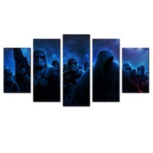 5 Panel Wall Decor Art Star Wars Stormtrooper Canvas Poster Printed Picture Modern Canvas Artwork Home Decoration For Christmas