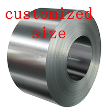 customized authentic 304 321 316 stainless steel col rolled bright thin foil tape strip sheet plate coil roll(China)
