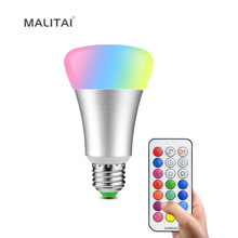 RGB Colour Changing E27 10W LED lamp Spot Bulb 110V 220V RGBW RGBWW Decoration Fairy Night light With Timer Remoter Controller(China)