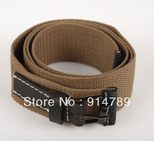 "WWII GERMAN HEER ARMY WAFFEN M44 WEB TROUSER BELT HOLE SIZE 29-36"" -33228"
