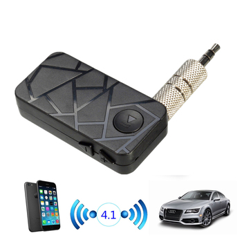 3.5mm Streaming Car A2DP Bluetooth V4.1 Wireless Stereo Audio Music Receiver with Mic Handsfree for Car AUX Home Audio System