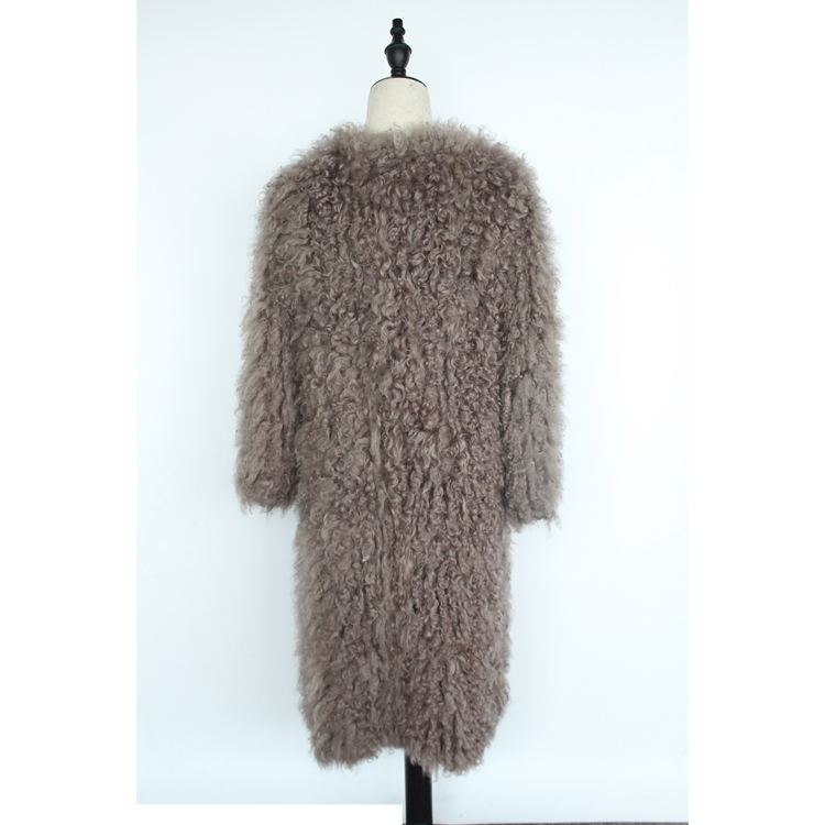 women natural lamb sheep fur coat (4)