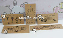 DIY handmade craft paper tags 100pcs/lot brown paper card garment tag decorative labels Design scrapbooking
