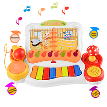 Early Childhood Educational Musical Keyboard Story Play Piano Microphone Kids Children Fun Toys Baby Girl Boys Learning Gifts