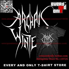 Archaic Winter Death/Black Metal Band Logo 100% Cotton Short-sleeve T-shirt Tee T(China)