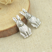 15 pcs 26*13 mm Antique Tibetan Silver Charms Bracelet Necklace Pendant  New Fashion Alloy charm rabbit 2315