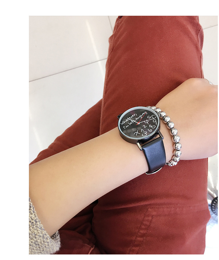 CONTENA Creative Watches Simple Street Leisure Women Quartz Leather Watch Characteristic Ladies Fashion Hours