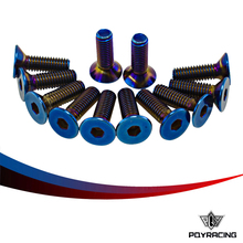 PQY RACING- 6PC/LOTS Titanium Burnt Steering Wheel Bolts Fit a lot of steering wheel Works Bell Boss Kit PQY-LS06T