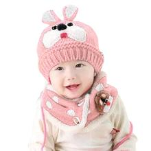 2017 Top Sale !!! Baby Scarf Boys Girls Infant Children Rabbit Teeth Scarf Child Scarf Hats Caps Warm Hat touca infantil #JD880(China)